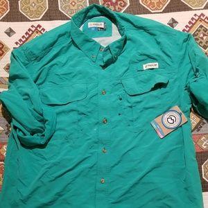 NWT Magellan long sleeve fishing shirt sz XL teal